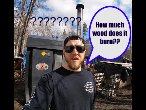 How Much Wood Does A Outdoor Wood Boiler Use? EP 34