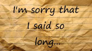 Sorry - Art Of Dying (lyric video)