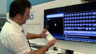 Drahtlose Tastatur für SAMSUNG TV Geräte der ES und F Serie mit SMART TV Funktion