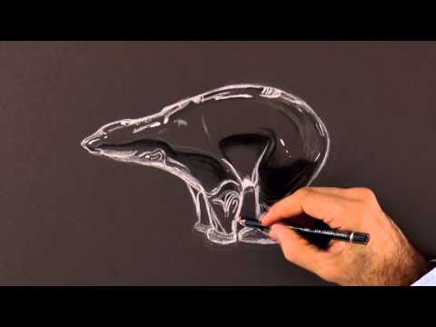 How to Draw a Crystal Bear - Lladro style