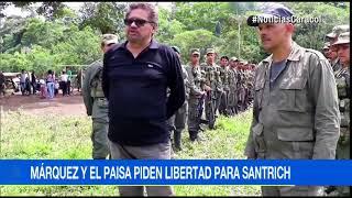 Iván Márquez y 'el Paisa' exigen liberar a Santrich para salvar proceso de paz