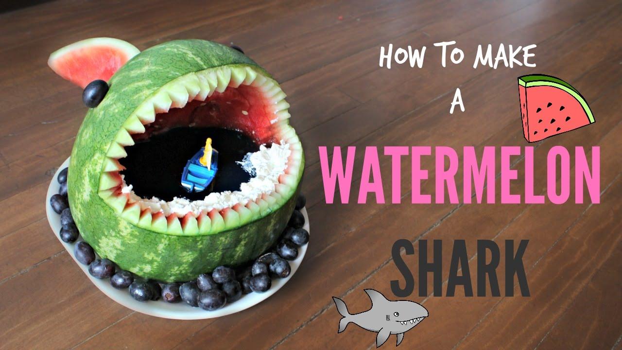 HOW TO MAKE A WATERMELON SHARK!! | NICKI LEE BAKES - YouTube