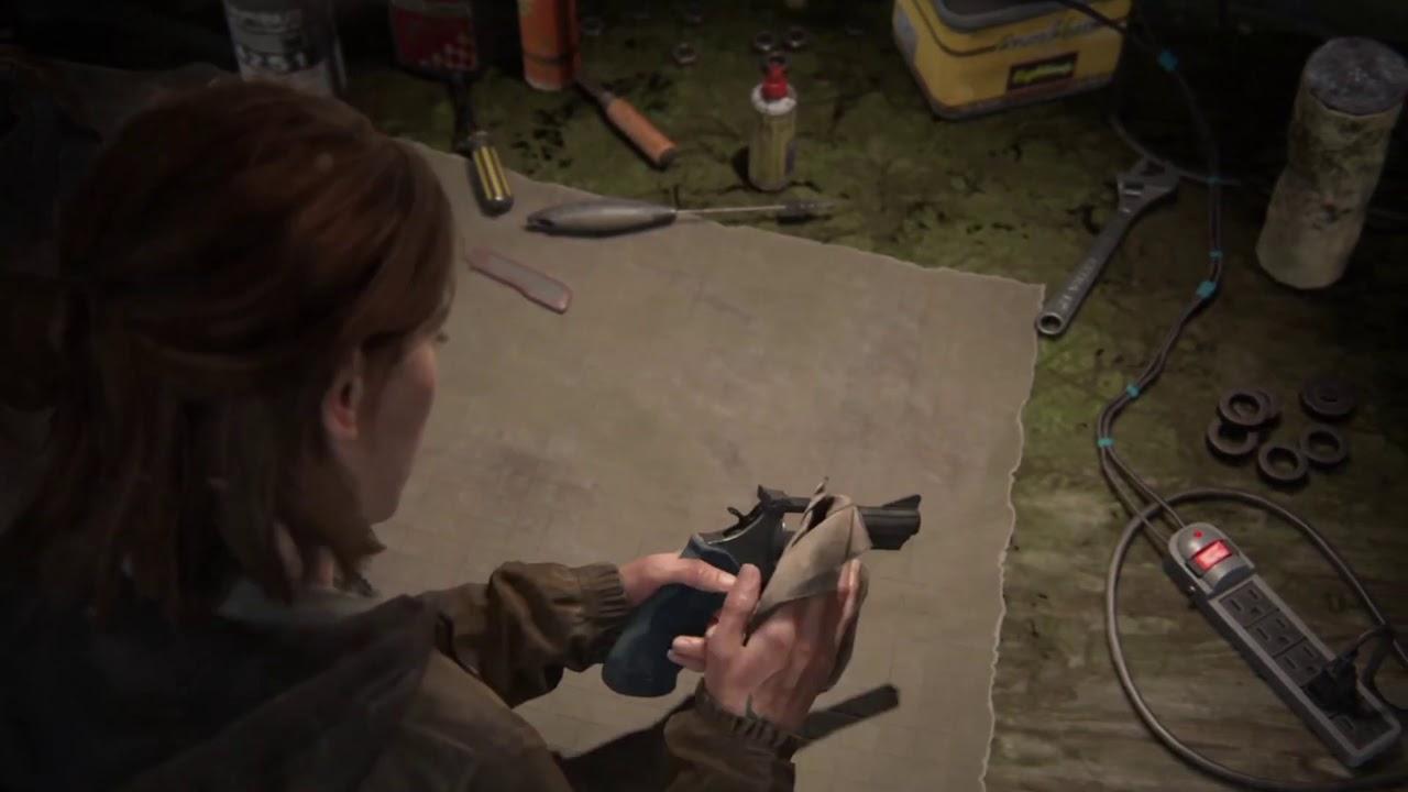 The Last of Us Part II - Joel's Gun Upgrade Animation