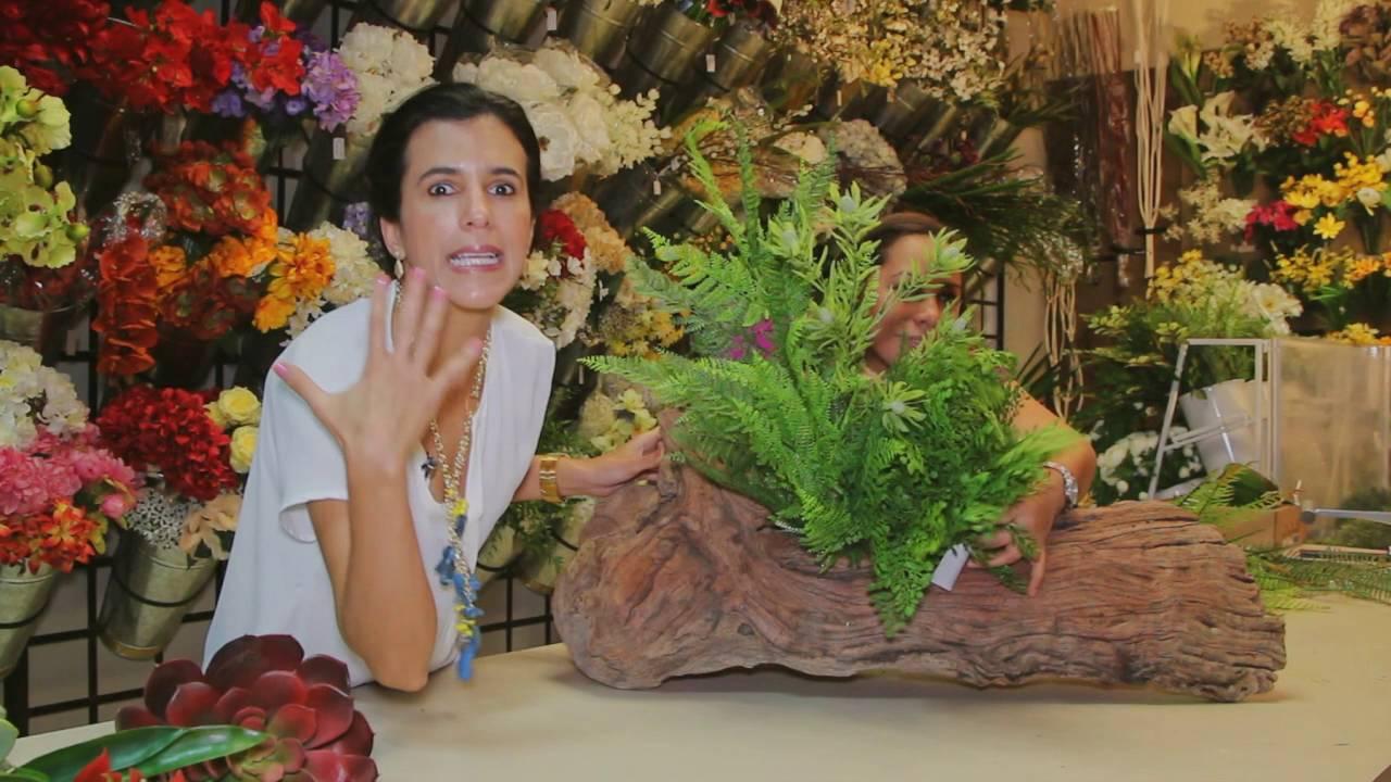 TIP: Como hacer un arreglo floral divino en un tronco! - YouTube