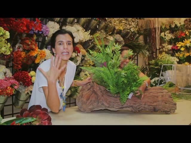 TIP: Como hacer un arreglo floral divino en un tronco!