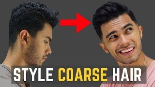 How to Style Coarse/Curly Hair | My New Haircut!