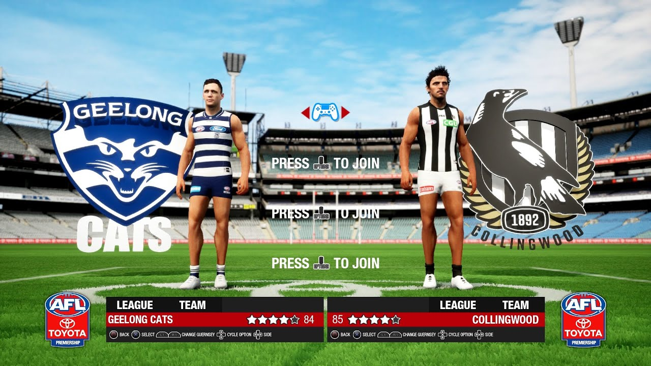 Afl Evolution 2 Geelong Cats Vs Collingwood Magpies Ps4 Gameplay Youtube
