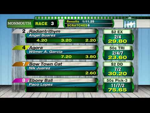 video thumbnail for MONMOUTH PARK 7-27-19 RACE 3