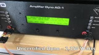 Skar Audio T-2000.1D Certified / Uncertified / Dynamic AMP DYNO Testing