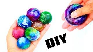 可以吃的爆浆星空球软软!一口吞掉一颗行星球水!DIY edible Galaxy squishy stress ball! Instant planet water! thumbnail