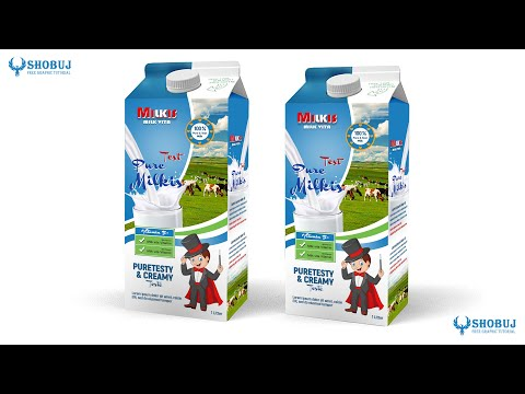 Product Packaging Design Tutorial in Photoshop - Milk Box