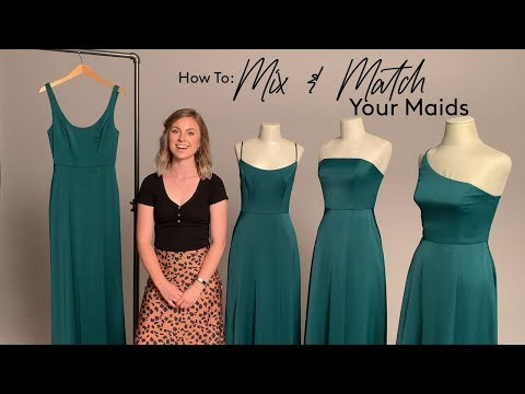 How to Mix & Match Your Bridesmaids with David's Bridal