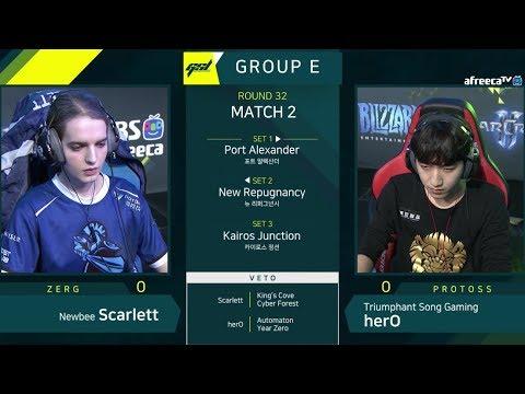 [2019 GSL Season 1] Ro.32 Group E Match2 Scarlett vs herO
