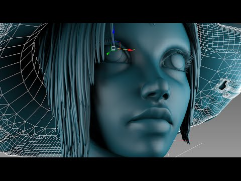 3DsMax Face Modeling sorceress (Long version)