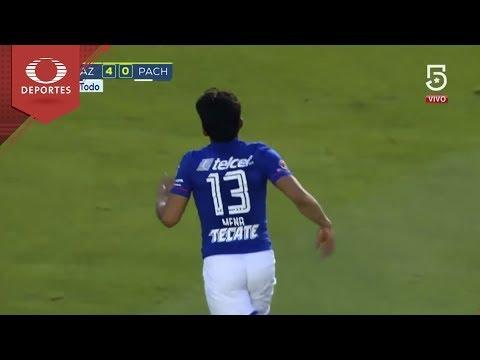 Gol de Ángel Mena | Cruz Azul 5-0 Pachuca | Clausura 2018 - Jornada 11 | Presentado por Chevrolet