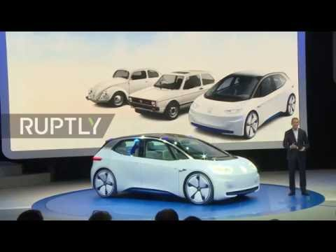 France: The electric-motored Volkswagen I.D. goes on display in Paris
