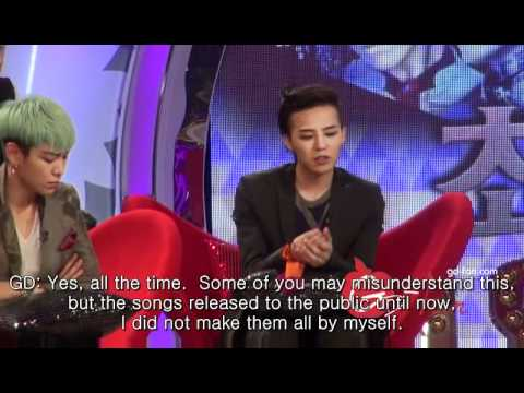G-dragon talks about songwriting 1 (Eng subbed) _120420