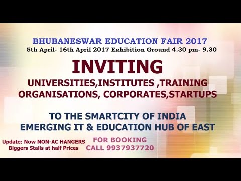 Bhubaneswar education fair 2017 invitation youtube bhubaneswar education fair 2017 invitation stopboris Choice Image