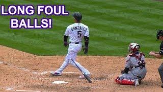 MLB   LONG FOUL BALLS!   1080p HD