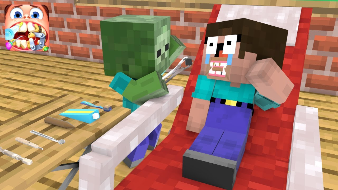 Monster School : Challenge Become Dentist - Old School - Minecraft Animation