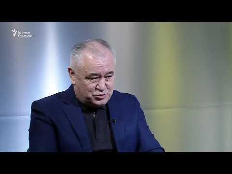 """""""Эки-бирде"""" мейманда """"Ата Мекен"""" саясий партиясынын лидери Өмүрбек Текебаев"""