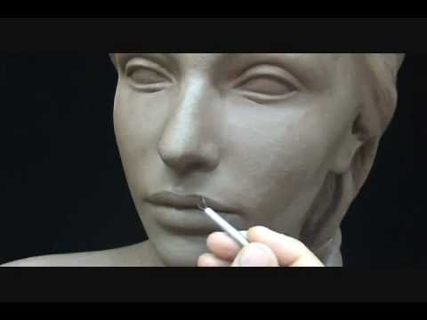 Scolpire una testa di donna (dimostrazione pratica) - arteidetv