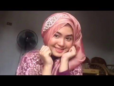1 Tutorial Hijab Wisuda / Pesta Kondangan Pashmina Simple by @olinyolina  YouTube