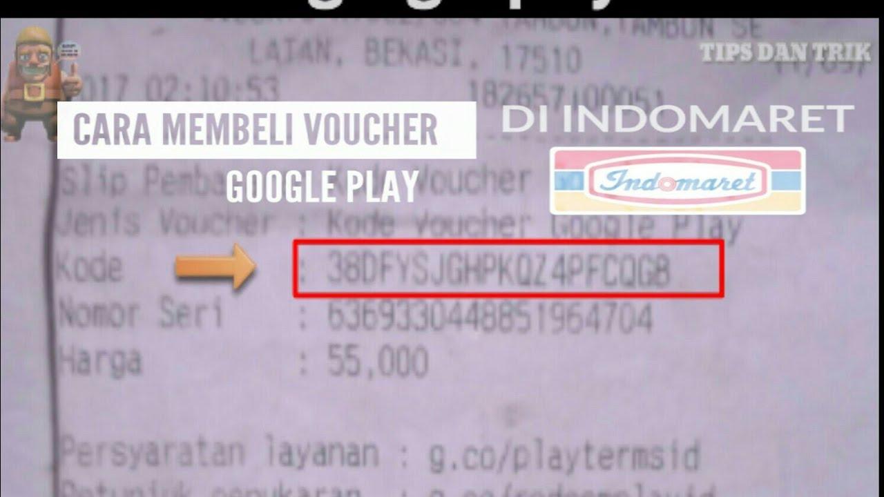Beli Voucher Google Play Di Indomaret Rmg Tips Dan Trik 5 Youtube