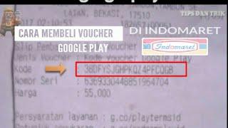 beli voucher google play di indomaret [RMG Tips dan trik] #5