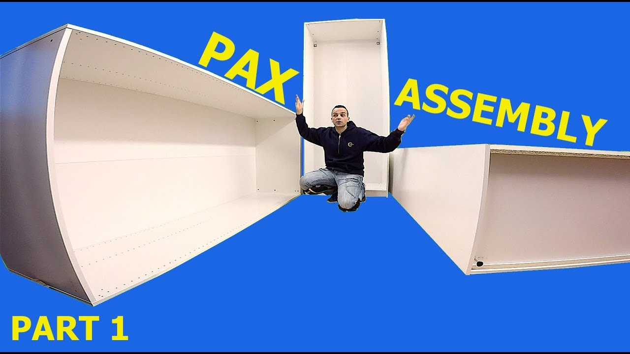 Ikea Pax Wardrobe Assembly Part 1 Youtube