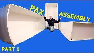 Ikea Pax Wardrobe Assembly (part 1) 2017