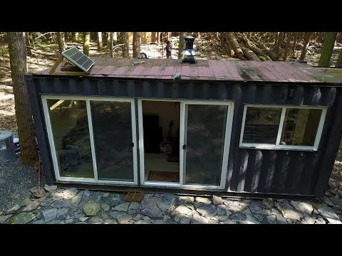 Tour Of A Shipping Container Cabin