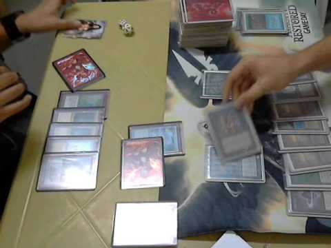 MTG Manila Vintage November 2012: R2 G1 UB Delver vs Jace Control