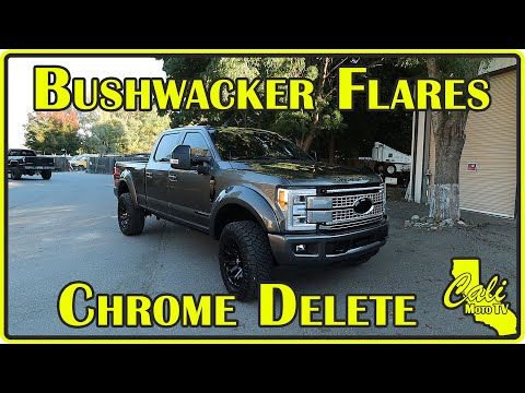 2019 Ford Super Duty F-250 Platinum Bushwacker Flares and Chrome Delete