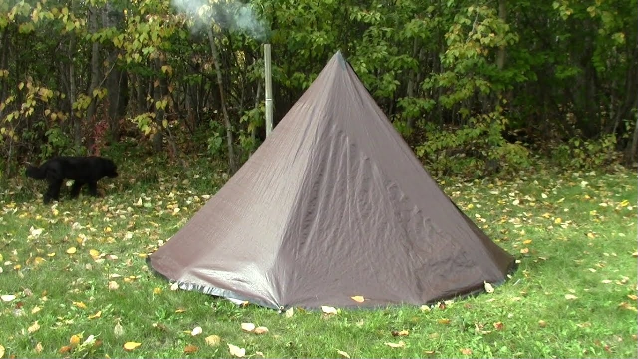 Make A Tarp Tent Tipi Hot Tent On The Cheap - YouTube