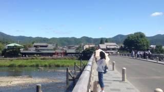 2017年6月17日 土 京都嵐山 初夏の渡月橋 ☆ Arashiyama Togetukyo Kyoto morning