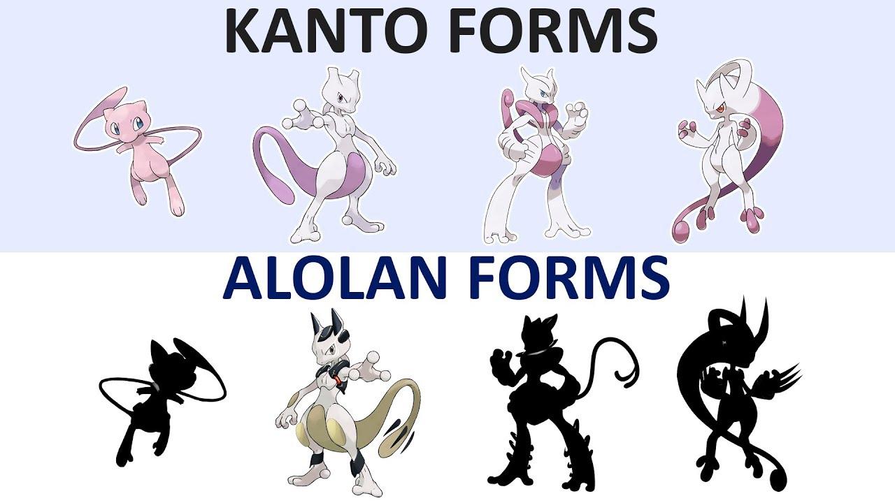 Alolan forms mewtwo evolution normal ground youtube - Evolution mew ...