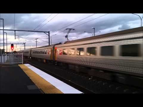 Queensland Rail InterCity Express ICE express through Sunshine station.