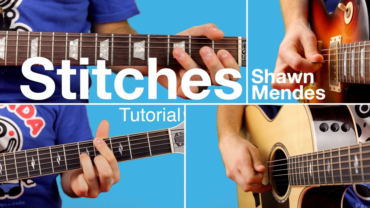 Stitches - Shawn Mendes (Guitar Lesson / Tutorial) Chords u0026 Melody - YouTube