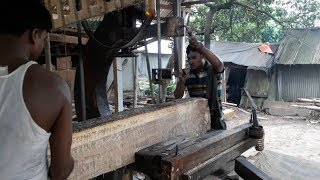 Solid Way of Slice Wood to Making Furniture।Cutting Mahogany Wood at Good Shape for Making Furniture