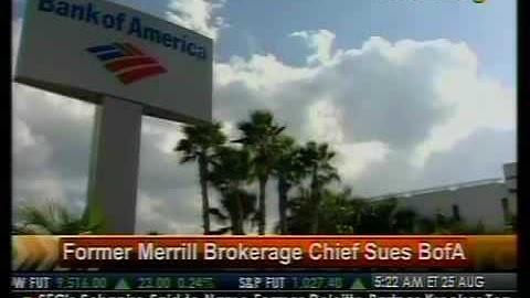 Former Merrill Brokerage Chief Sues BofA - Bloomberg