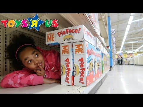 BEST HIDE AND SEEK SPOT In Toys R US   Toys AndMe