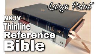 NKJV Large Print Thinline Bible Review Blue Leathersoft screenshot 1