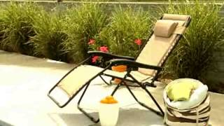 Coral Coast Extra Wide Padded Zero Gravity Lounge Chair - Product Review Video