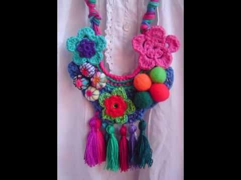 Variedad De Collares Tejidos A Crochet Imagenes Youtube