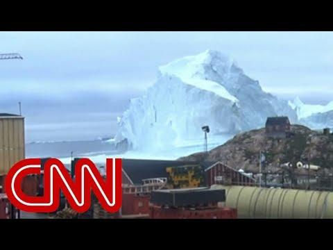 Massive Iceberg vs. Threatens West Greenland's Tiny Village