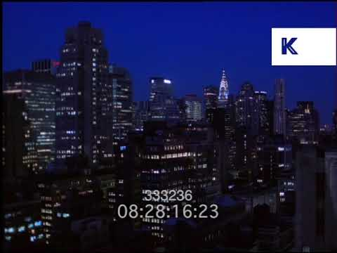 2000s New York Skyline At Night, Chrysler Building