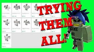 Trying All Animations In Roblox!