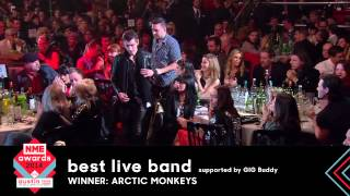 Arctic Monkeys Accept Best Live Band At NME Awards 2014