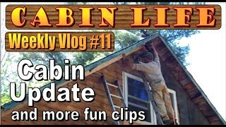 OFF GRID CABIN LIFE  Vlog #11   Cabin Renovation Update and Fun Random Clips